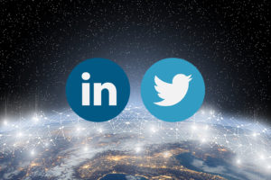 Network with LinkedIn Twitter logos