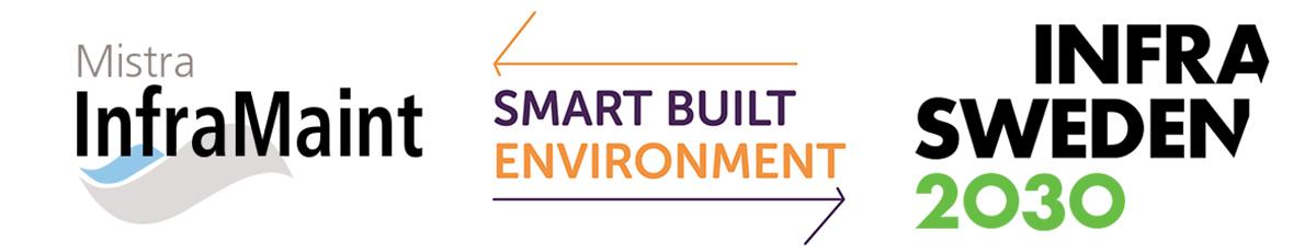 Logos Mistra InfraMaint, Smartbuil Ebvironment and Infra Sweden 2030