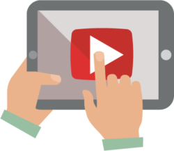 ipad showing youtube