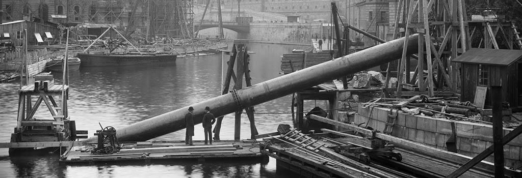 Nedläggning av vattenledning Stockholm 1897